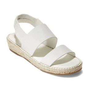 New Cole Haan Cloudfeel Espadrille Sandals White